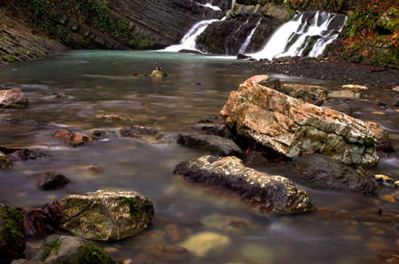 cataract falls: Waterfall, 1 sec. exposure Stock Photo