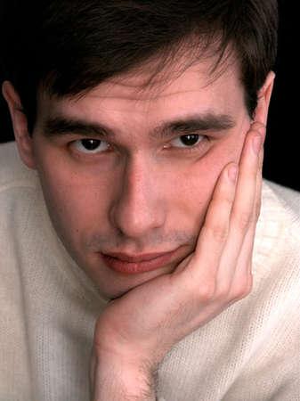 full face: Thoughtful man full face