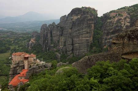 4 Meteora monasteries: Moni Agiou Nikolaou, Moni Agias Varvaras Rousanou, Megalou Meteorou, Moni Varlaam photo