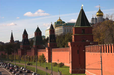 kremlin: Towers of the Kremlin, Moscow, Russia Stock Photo
