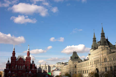 The museum of Russian history and GUM, Red square, Moscow, Russia photo