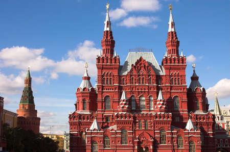 red square moscow: El museo de la historia de Rusia, la plaza Roja de Mosc�, Rusia  Foto de archivo