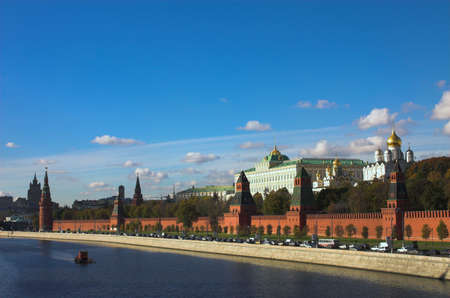 Kremlin wall and Moskva river, Moscow, Russia photo