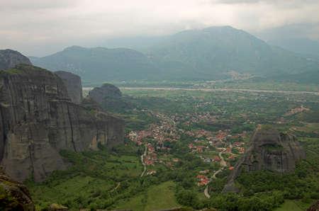 kalambaka: Kalambaka town, Meteora, Greece Stock Photo