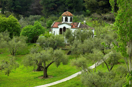 Small christian church, Greece photo