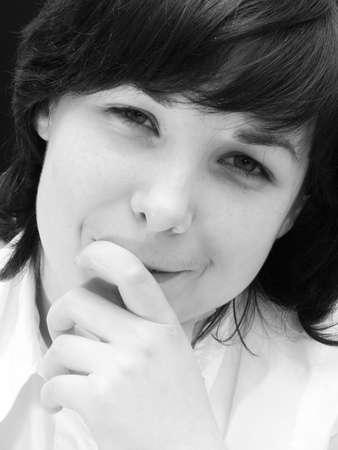 Girl smiling portrait photo