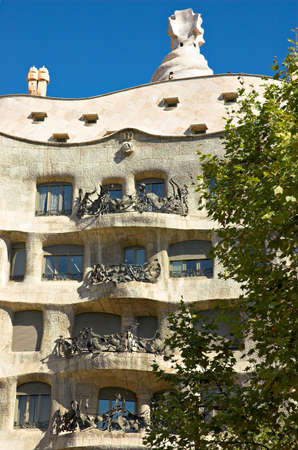 antoni: La Pedrera, Antoni Gaudi, Barcelona, Spain Stock Photo