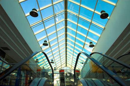 Two escalators in the mall Stock Photo - 500232