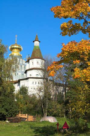 Christian church in New Jerusalem near Istra, Moscow region, Russia photo