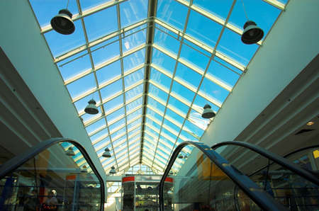 Two escalators in the shop photo