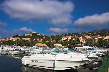 azur: Boats near the beach, Coted Azur, France