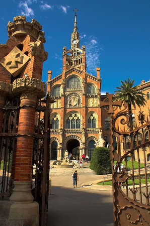 catalunia: Hospital Sant Pau in Barcelona, Spain