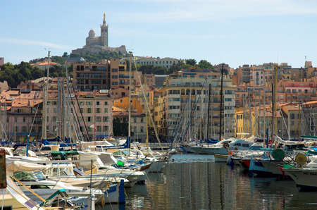 Yachts in Vieux port in Marseille, France Stock Photo - 745197