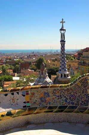 spicecake: Spice-pastel de viviendas en el Parque G�ell de Antoni Gaud�, Barcelona, Espa�a