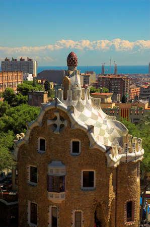 spicecake: Spice-pastel casa en el Parque G�ell de Antoni Gaud�, Barcelona, Espa�a