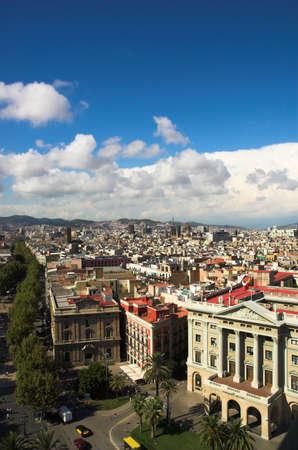 Ramblas in Barcelona vertical, Spain
