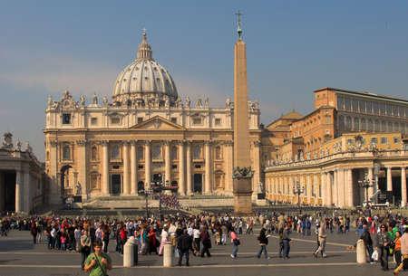 Saint Peter's Square, o Saint Peter's Plaza en la Ciudad del Vaticano  Foto de archivo - 896926