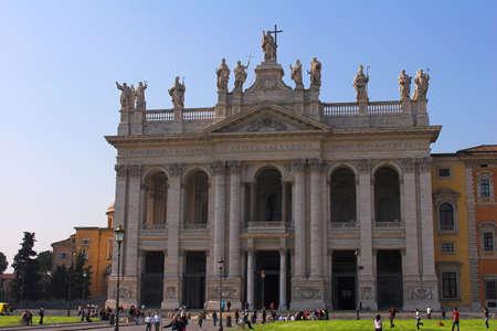 love at first sight: Basilica  St John Lateran  or Archbasilica of the Most Holy Savior  Stock Photo