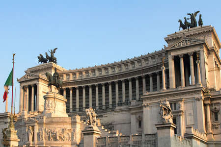 emmanuel: National Monument of Victor Emmanuel II(Altar of the Fatherland), Rome, Italy Stock Photo