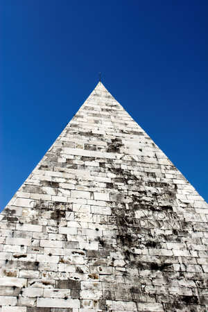 Pyramid of Cestius is Egyptian style pyramid in Rome, Italy