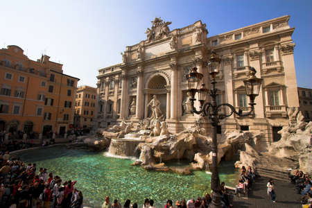 Trevi fountain is most ambitious  the Baroque fountains of Rome, Italy