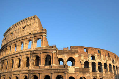 Famous Colosseum or Coliseum in Rome(Flavian Amphitheatre), Italy Stock Photo