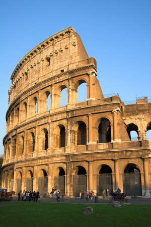 Famous Colosseum or Coliseum in Rome (Flavian Amphitheatre), Italy photo
