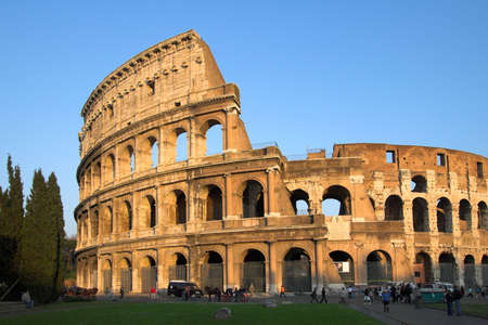 Famous Colosseum or Coliseum in Rome(Flavian Amphitheatre), Italy Stock Photo