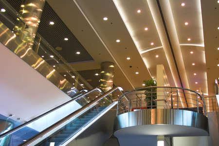 metallic stairs: Escalators and stairs