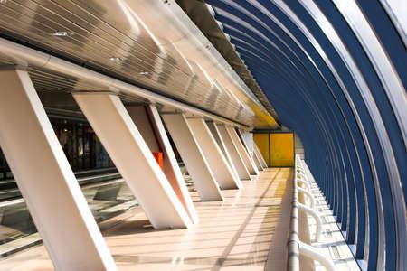 glass corridor in office centre Stock Photo - 2032508