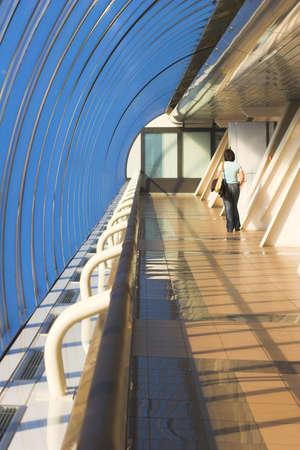 glass corridor in office centre Stock Photo - 2032506