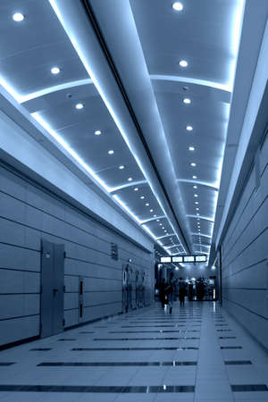 Walking people in airport photo