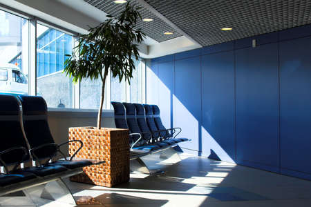 waiting lounge in an airport for business photo