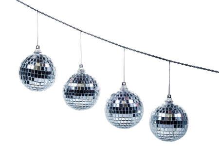 festive mirror ball and chain