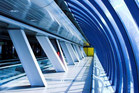 glass corridor in office centre Stock Photo - 2177475