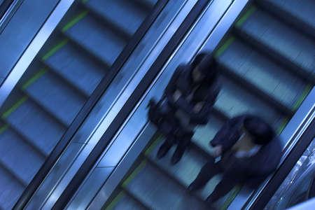 elevated walkway: Mooving escalators in airport