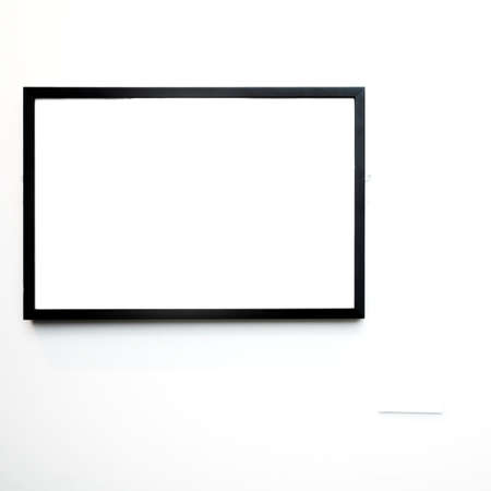 empty frame on white wall in museum Stock Photo - 2815542