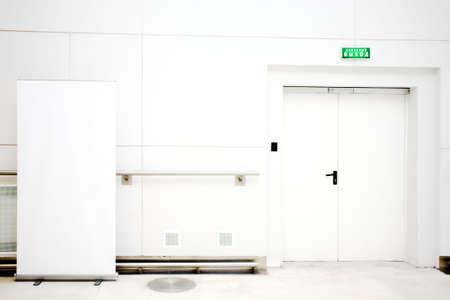 gallerie: Empty billboard and doors in interior