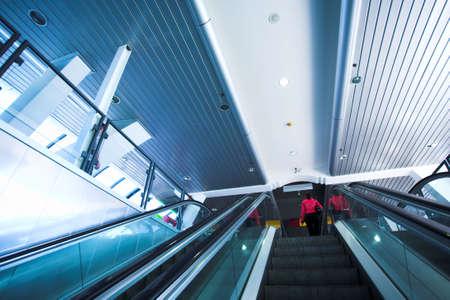 Move escalator in modern office centre Stock Photo - 2977198