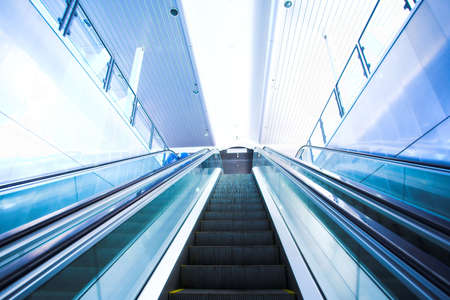 Move escalator in modern office centre Stock Photo - 2977143
