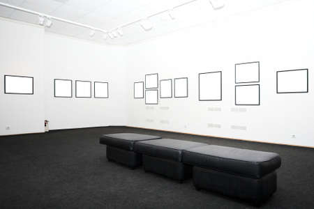 walls in museum with empty frames Stock Photo - 3090229