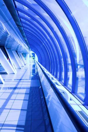 glass corridor in office centre Stock Photo - 3179393