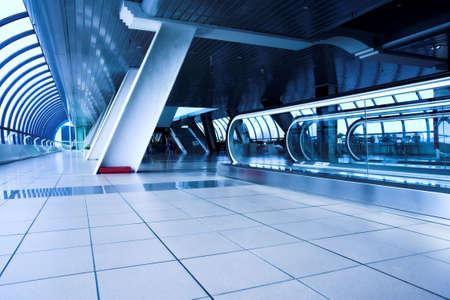 Escalator in corridor in office centre photo