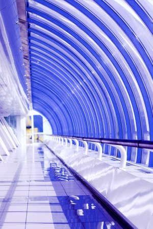 Violet glass corridor in office centre Stock Photo - 3179275
