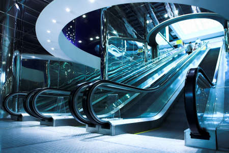 Move escalator in modern office centre Stock Photo - 3184066