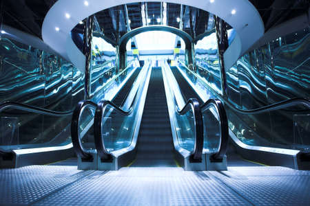 Move escalator in modern office centre Stock Photo - 3184135