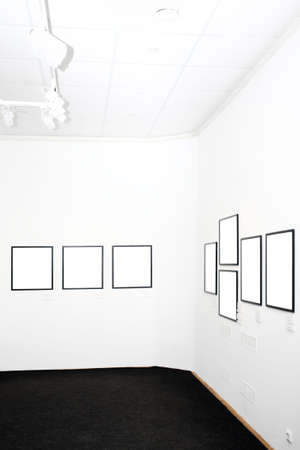 walls in museum with empty frames Stock Photo - 3235979