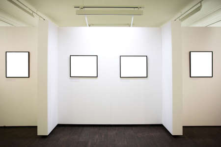 proto: wall in museum with empty frames