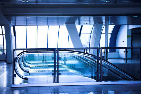Empty escalator in corridor in office centre Stock Photo - 3236193