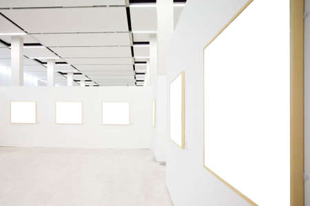 walls in museum with empty frames Stock Photo - 3242325